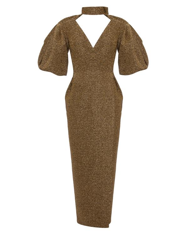 платье макси с открытой спиной артикул 0001W7 марки Rasario купить за 87500 руб.
