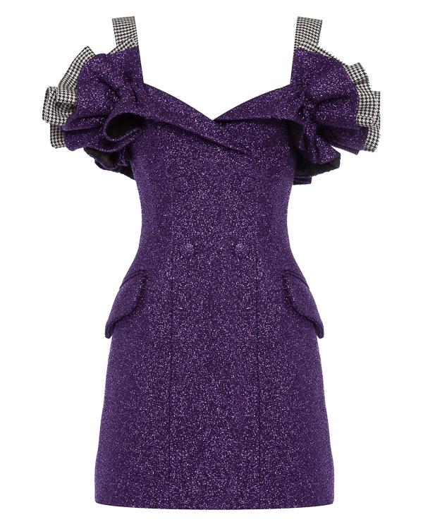 платье из плотного металлизированного материала артикул 0012W7 марки Rasario купить за 75000 руб.