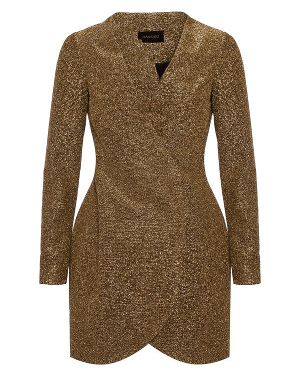 платье мини из плотного металлизированного материала артикул 0013W7 марки Rasario купить за 81300 руб.