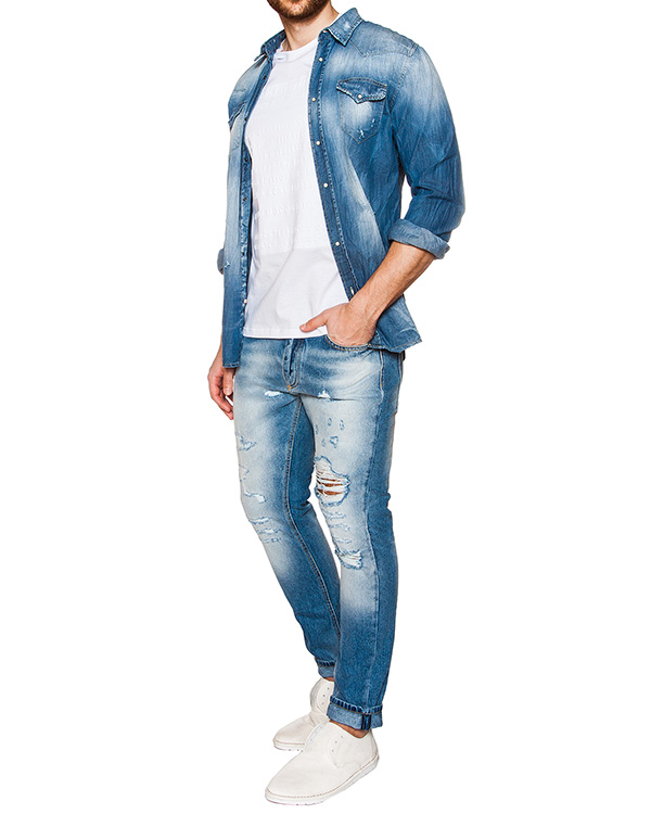 мужская рубашка P.M.D.S, сезон: лето 2016. Купить за 7100 руб. | Фото 3