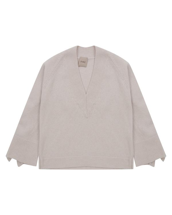 пуловер  из трикотажной шерсти с оборками  артикул 1101049 марки Nude купить за 20300 руб.