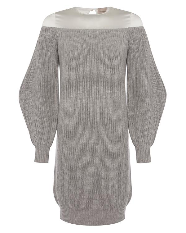 платье из вязаной шерсти с атласной вставкой артикул 1101053 марки Nude купить за 24800 руб.
