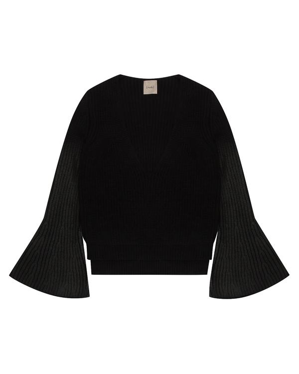 пуловер крупной вязки с рукавами-клеш артикул 1101080 марки Nude купить за 19400 руб.