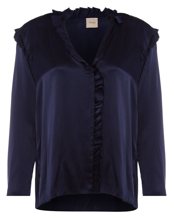 блуза из шелка с мелкими рюшами артикул 1103010 марки Nude купить за 23800 руб.