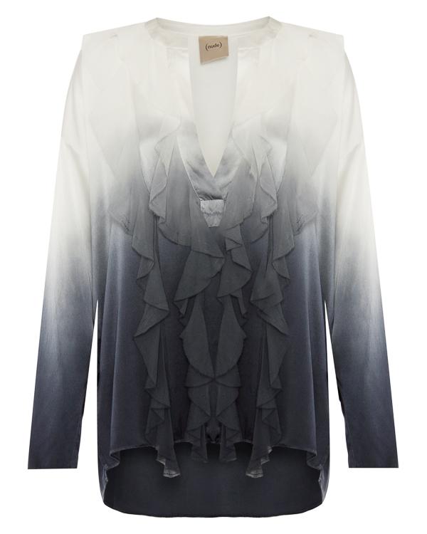 блуза из шелка с градиентным окрасом артикул 1103011D марки Nude купить за 26300 руб.