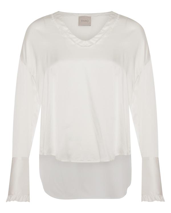 блуза  из шелка со спущенной линией плеч  артикул 1103012 марки Nude купить за 22100 руб.