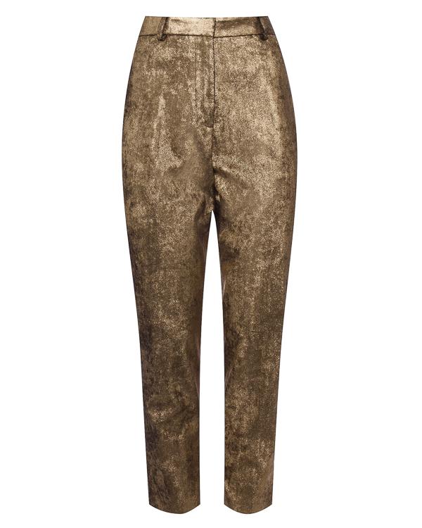 брюки из золотистого материала артикул 1103018 марки Nude купить за 25900 руб.