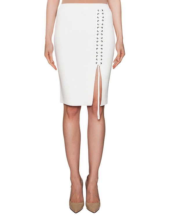 юбка из плотной эластичной ткани со шнуровкой  артикул 112113S16 марки Alexander Wang купить за 13900 руб.