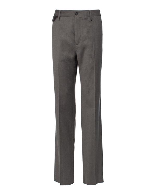 брюки классического кроя из микса шерсти и хлопка артикул 113606 марки Cortigiani купить за 22800 руб.