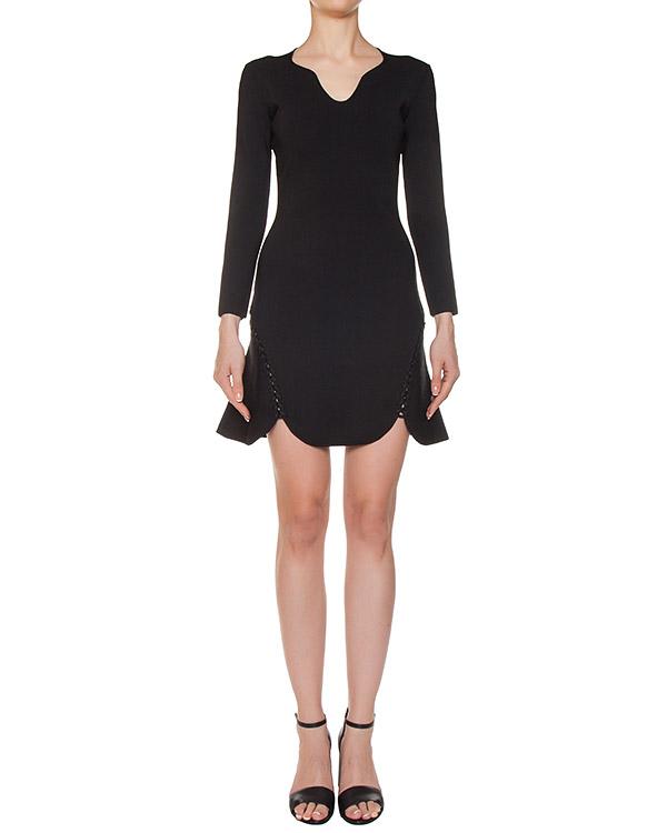 платье с фигурным подолом артикул 116031 марки Alexander Wang купить за 53400 руб.