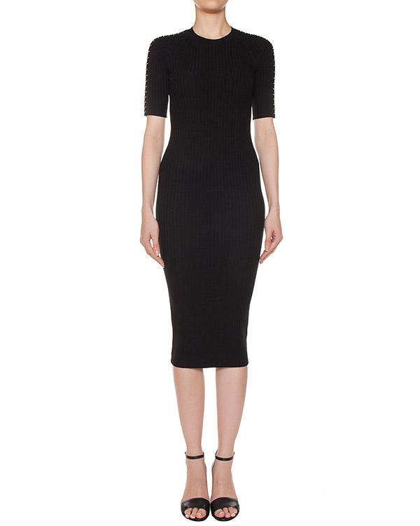платье трикотажное с металлической фурнитурой артикул 116089 марки Alexander Wang купить за 16700 руб.
