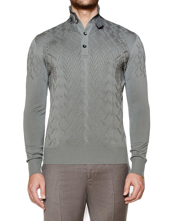 пуловер из вирджинской шерсти экстрафайн с узором артикул 119131 марки Cortigiani купить за 30500 руб.