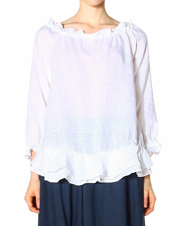 женская блуза 120% lino, сезон: лето 2015. Купить за 6400 руб. | Фото 1