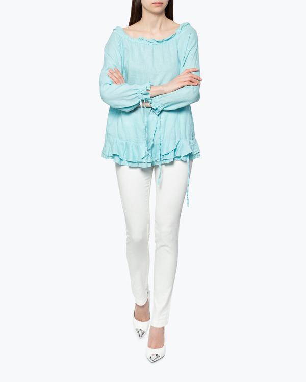 женская блуза 120% lino, сезон: лето 2015. Купить за 6400 руб. | Фото 2