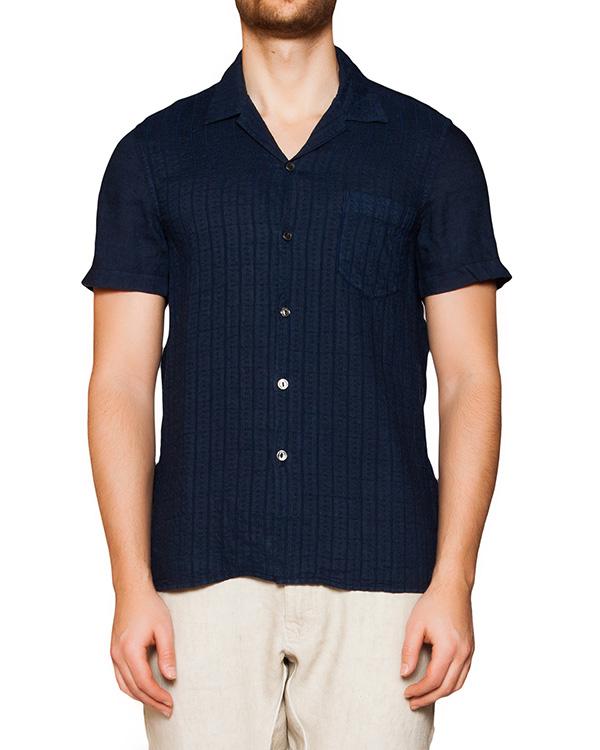 рубашка из тонкого льна с фактурным узором артикул 1320F133 марки 120% lino купить за 7300 руб.