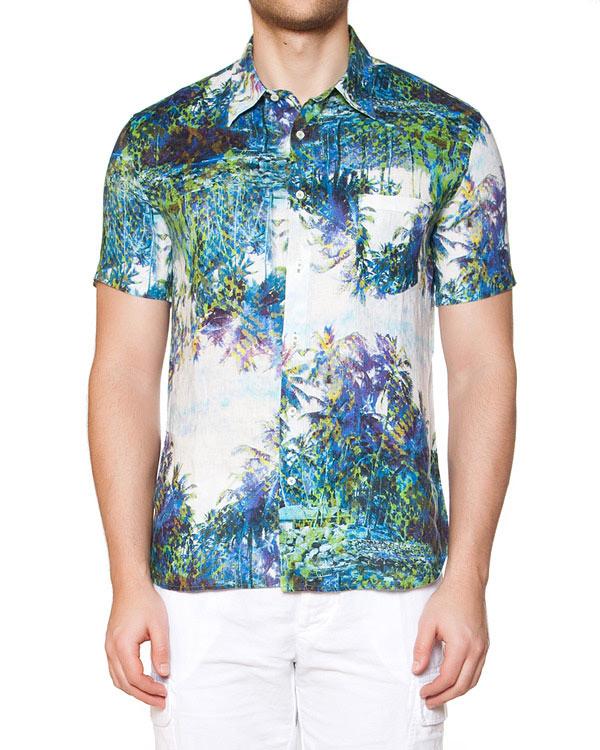 мужская рубашка 120% lino, сезон: лето 2015. Купить за 15000 руб. | Фото 1