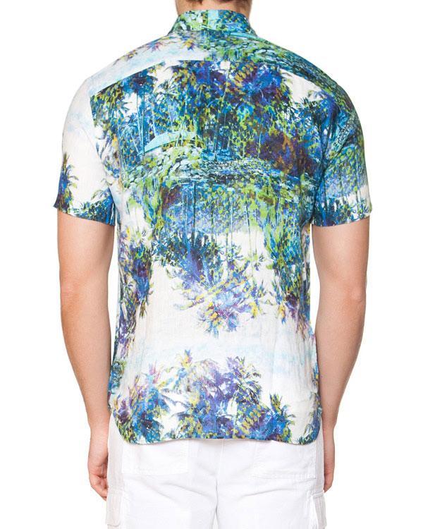 мужская рубашка 120% lino, сезон: лето 2015. Купить за 15000 руб. | Фото 2