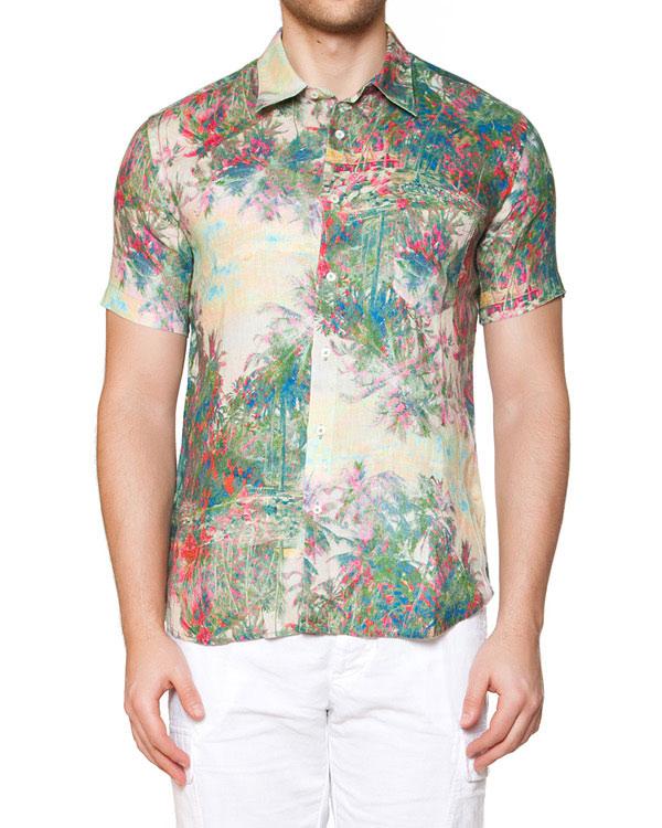 мужская рубашка 120% lino, сезон: лето 2015. Купить за 7500 руб. | Фото 1