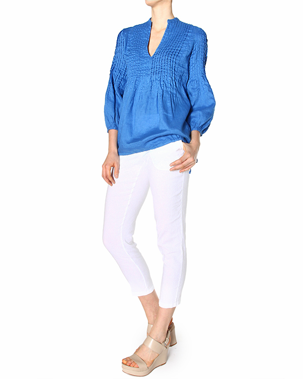 женская блуза 120% lino, сезон: лето 2015. Купить за 6300 руб. | Фото 3