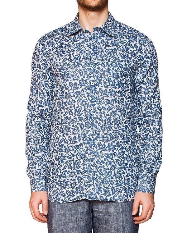 мужская рубашка 120% lino, сезон: лето 2016. Купить за 6600 руб. | Фото 1