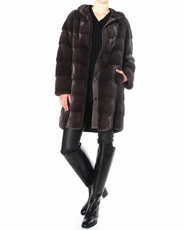 женская мех.пальто Manzoni, сезон: зима 2014/15. Купить за 272100 руб. | Фото 3