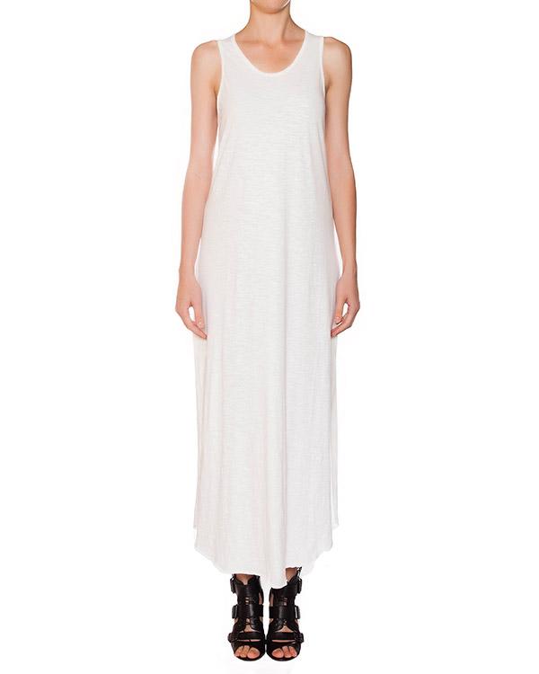 платье в пол из мягкого тонкого хлопка, декорировано разрезами на спине артикул 15230723R марки Lost&Found купить за 7700 руб.