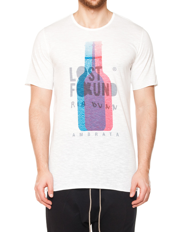 футболка из хлопка с принтом артикул 15230P100R марки Lost&Found купить за 8300 руб.
