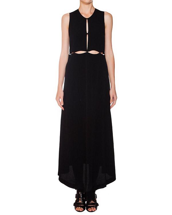 платье в пол из тонкого мягкого хлопка; стилизовано под сшитые топ и асимметричную юбку артикул 15249741 марки Lost&Found купить за 15100 руб.