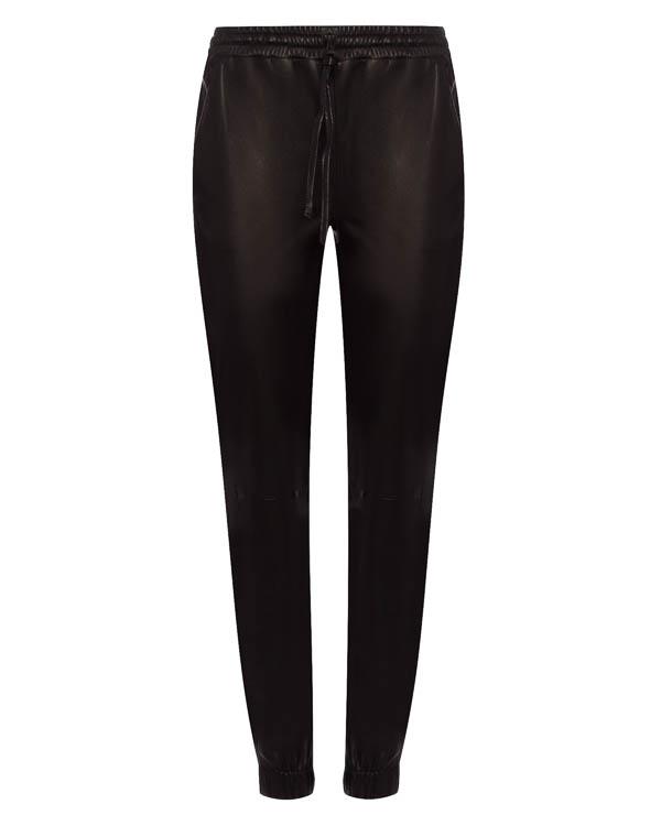 брюки зауженного силуэта из кожи артикул 1570215 марки Amanda Wakeley купить за 68600 руб.