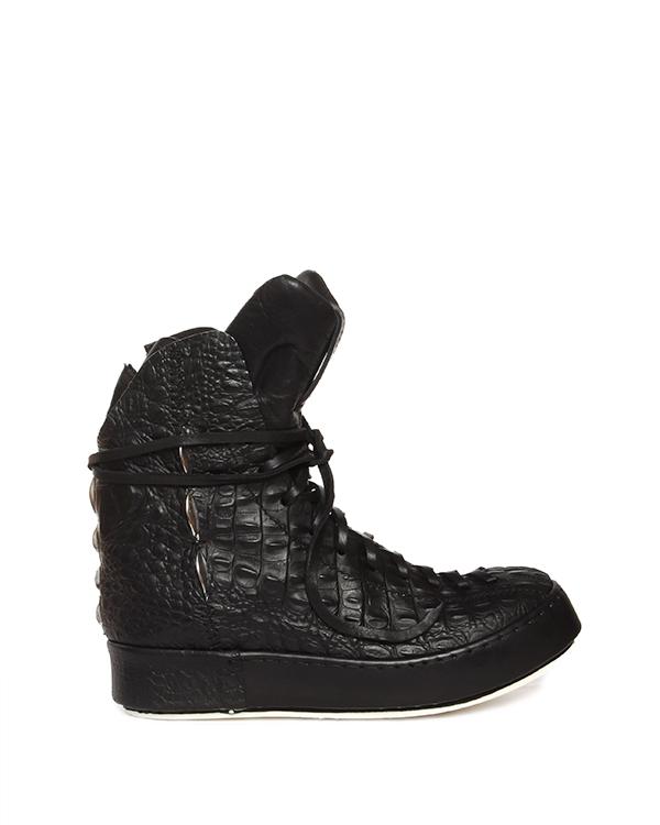 ботинки из натуральной кожи с тиснением под крокодила артикул 15903-A марки Artselab купить за 21000 руб.