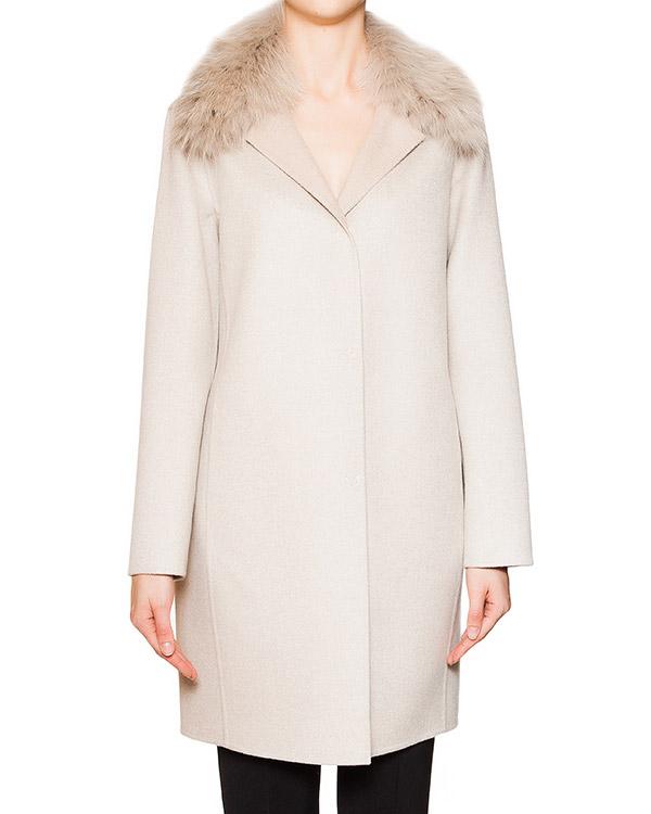 пальто из кашемира Loro Piana с воротником из натурального меха лисы артикул 15M247 марки Manzoni купить за 86500 руб.