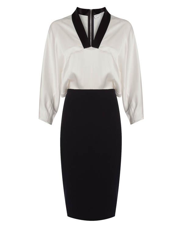 платье с имитацией блузы и юбки артикул 1610604 марки Amanda Wakeley купить за 59900 руб.