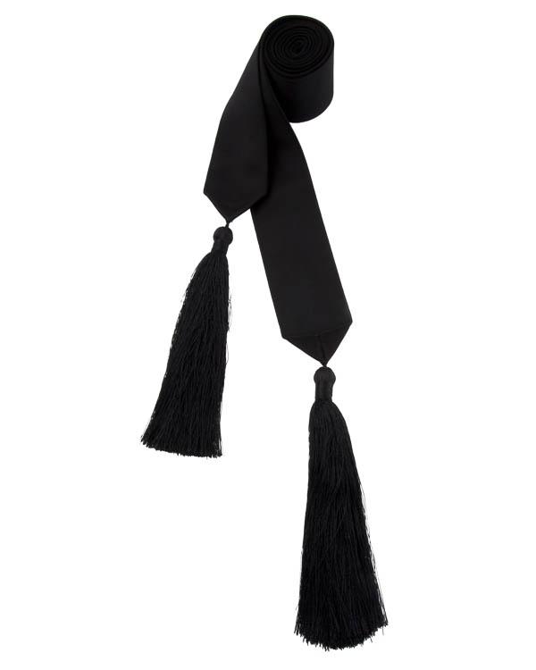 пояс из текстиля с кисточками  артикул 1610901 марки Amanda Wakeley купить за 9900 руб.