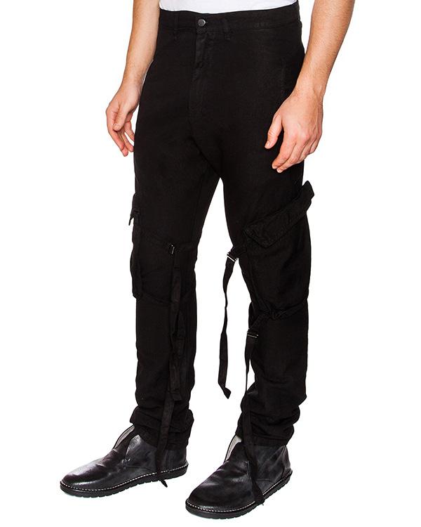 брюки из плотного хлопка и льна, дополнена съемными карманами артикул 16MDAR41 марки Andrea Ya'aqov купить за 13200 руб.