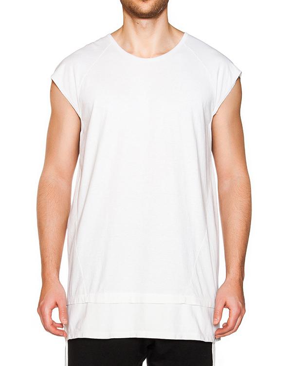 футболка двухслойная из мягкого хлопка с длинными завязками по бокам  артикул 16MOPCO26 марки Andrea Ya'aqov купить за 9100 руб.