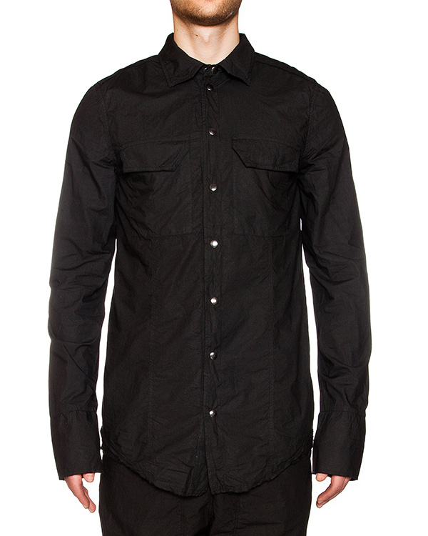 рубашка из жатого хлопка, снизу на спине дополнена вставкой из льна  артикул 16WARO21 марки Andrea Ya'aqov купить за 14600 руб.
