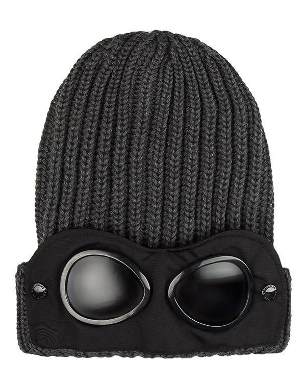 шапка вязаная со съемной деталью  артикул 16WCPUA05262 марки C.P.Company купить за 7100 руб.