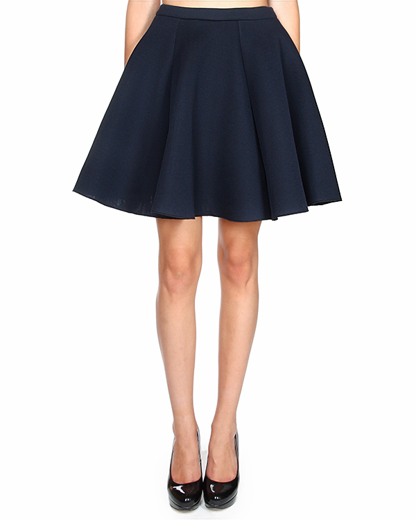 юбка из плотного трикотажа, с прорезными боковыми карманами артикул 1741MDD21 марки MSGM купить за 10200 руб.