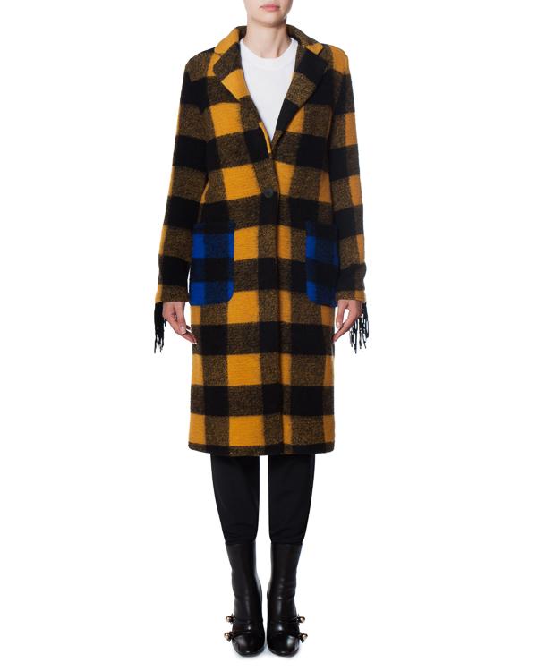 пальто Wild из шерстяного микса с аппликацией на спине  артикул 17FR08 марки Front Street 8 купить за 20700 руб.