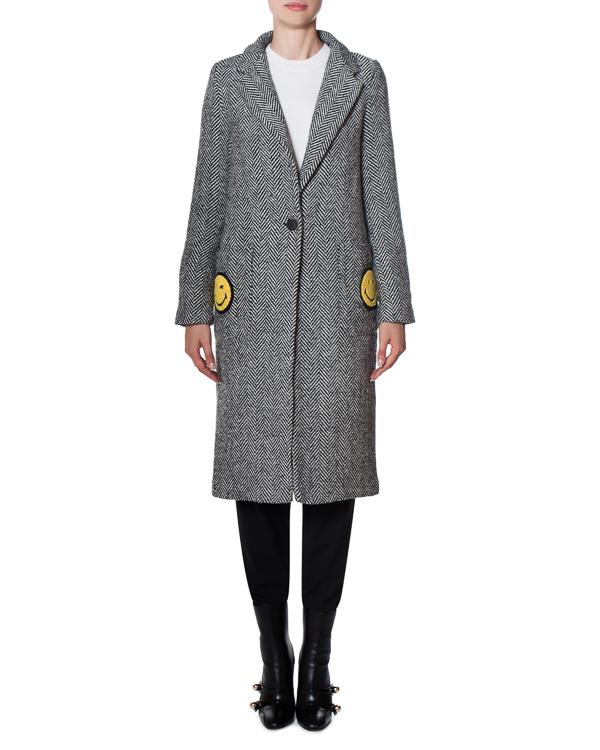 пальто Smile из шерстяного материала с аппликациями артикул 17FR100 марки Front Street 8 купить за 19900 руб.