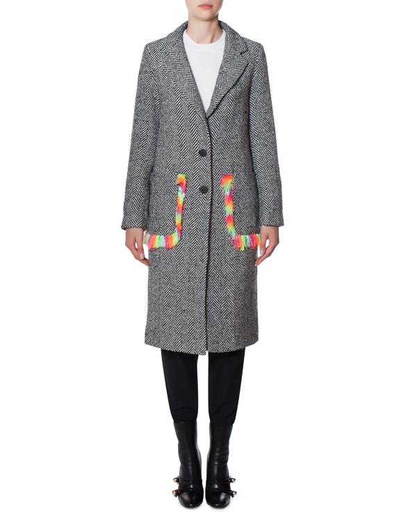 пальто CIRCUS из шерстяного материала с аппликацией на спине артикул 17FR101 марки Front Street 8 купить за 20700 руб.