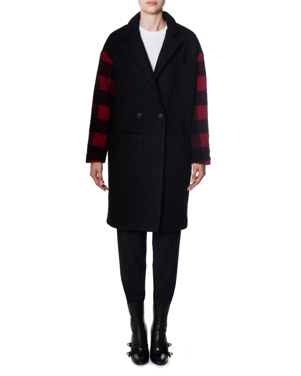пальто Help из плотной шерсти с аппликацией на спине артикул 17FR102 марки Front Street 8 купить за 19900 руб.
