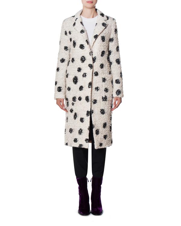 пальто CRUELLA DEVIL из буклированного шерстяного микса артикул 17FR104 марки Front Street 8 купить за 20700 руб.