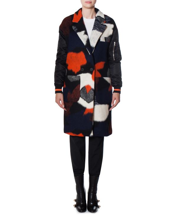 пальто из ворсистой шерсти со спортивными рукавами артикул 17FR109 марки Front Street 8 купить за 19900 руб.