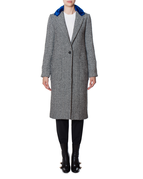 пальто из полушерстяного материала с аппликацией артикул 17FR10 марки Front Street 8 купить за 19900 руб.