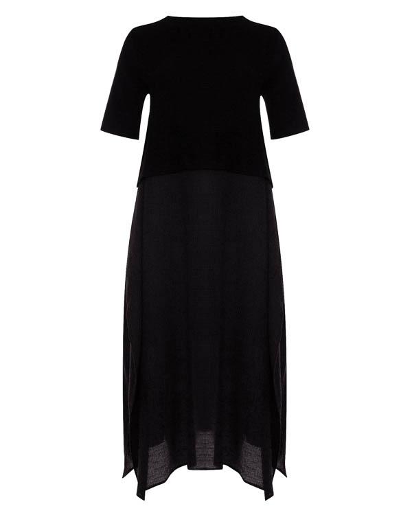 платье миди из комбинированного трикотажа   артикул 17W061 марки Colour 5 Power купить за 13600 руб.