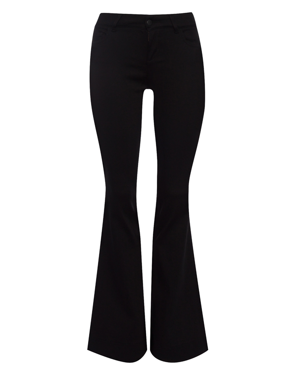 джинсы Flared из плотного денима артикул 18WNAG35 марки Andrea Ya'aqov купить за 19900 руб.