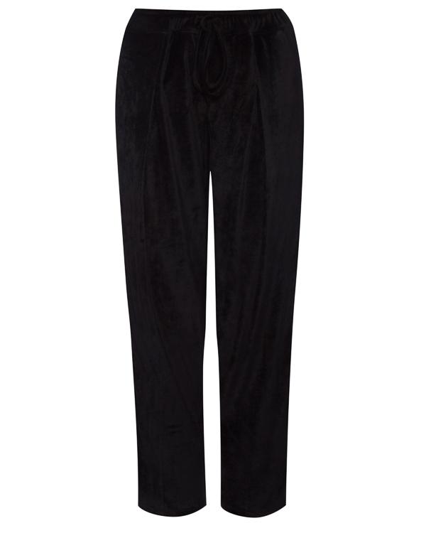 брюки свободного силуэта из бархата артикул 18WSYD49 марки Andrea Ya'aqov купить за 18000 руб.