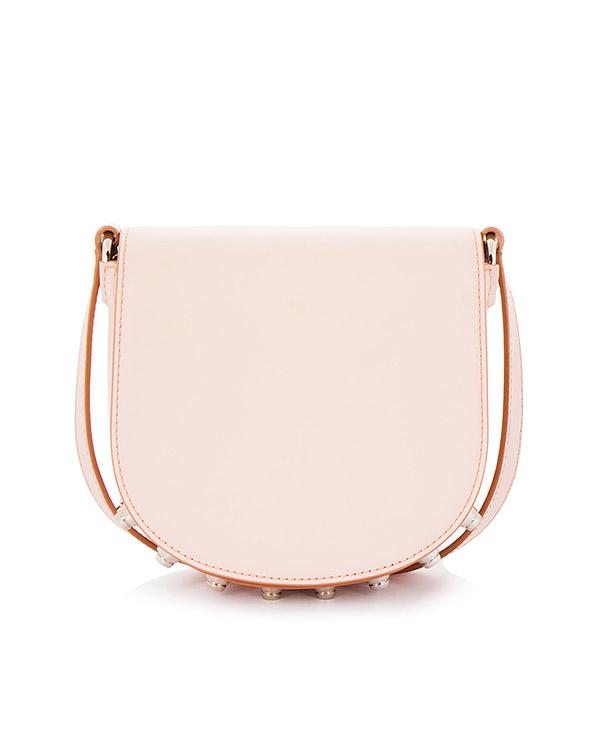 сумка из гладкой кожи с фирменными шипами артикул 20R0452 марки Alexander Wang купить за 45500 руб.