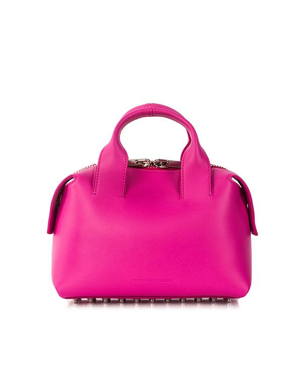 сумка из натуральной кожи с фирменными металлическими шипами артикул 20S0162 марки Alexander Wang купить за 51400 руб.